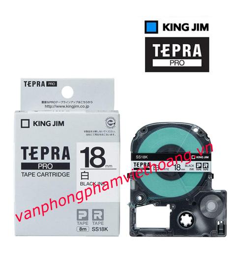 Băng mực in nhãn TEPRA PRO 18mm