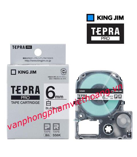 Băng mực in nhãn TEPRA PRO 6mm