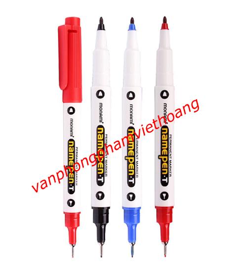 Bút dạ kính Monami Namepen.T (2 đầu)
