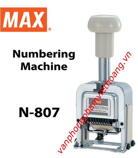 Dấu nhảy số tự động 8 số MAX N-807