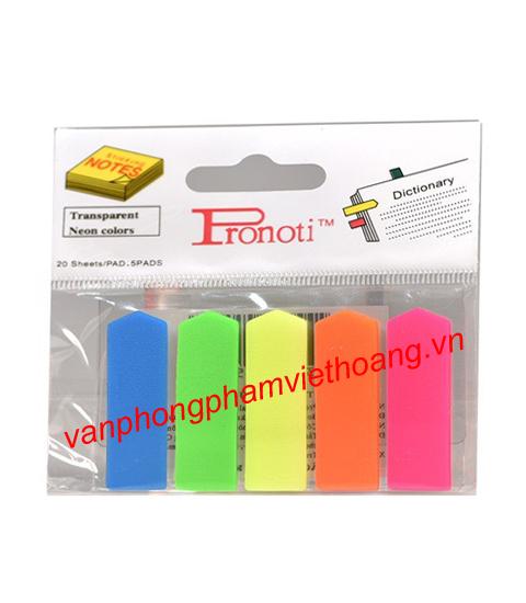 Giấy phân trang 5 màu nhựa Pronoti 45502