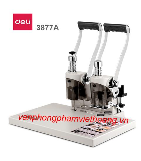 Máy khoan đóng chứng từ Deli 3877A