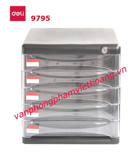 Tủ đựng tài liệu 5 ngăn Deli 9795