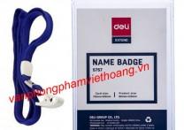 Bộ dây và bao đựng thẻ nhựa doc Deli 5757