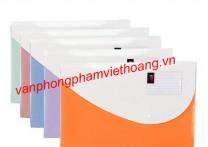 Túi hồ sơ cúc bấm khổ F Deli 5506