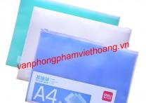 Túi hồ sơ khóa miết A4 Deli 5588
